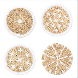 Bloomingville Woven Seagrass Coasters